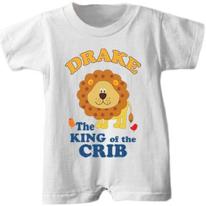 "Personalized ""King of the Crib"" Romper"