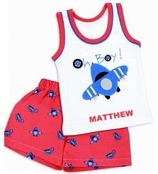 "Personalized ""Oh Boy!"" Shorts Set"