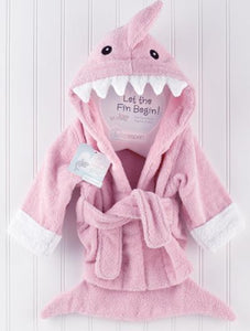 Personalized Pink Terry Shark Robe