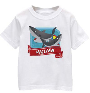 "Personalized ""Shark"" Baby T Shirt"