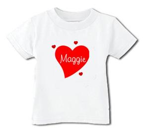 Personalized Valentine's Heart Tee