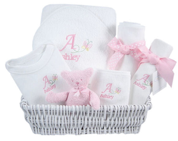Baby Butterfly - Personalized Luxury Layette Basket