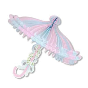Pink and Blue Parasol Decoration
