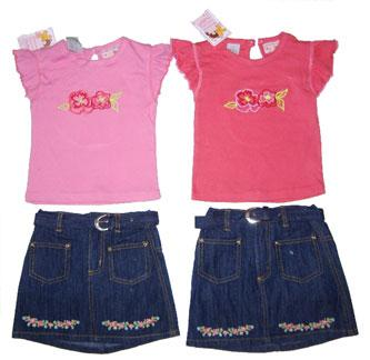 Precious Creations Denim Skirt Set