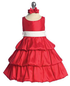 Pretty Red Ruffles Party Dress