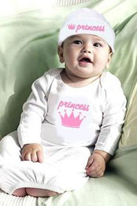 Princess Gown & Cap Set Newborn 0-6M