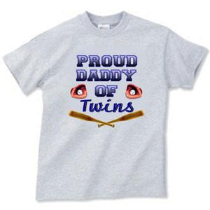Proud Daddy Of Twins Adult Tee Shirt