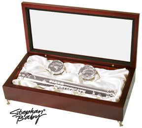 Rosewood Memory Set w/ Birth Certificate Holder