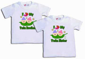 Set of 2 I Love My Twin Tees Shirts