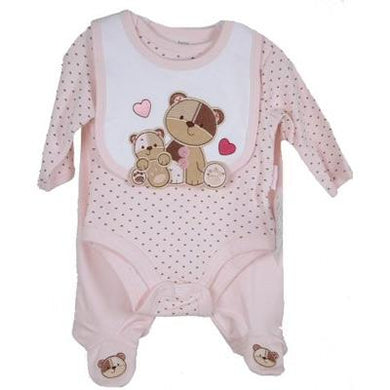 Three Piece Petite Bear Preemie Set