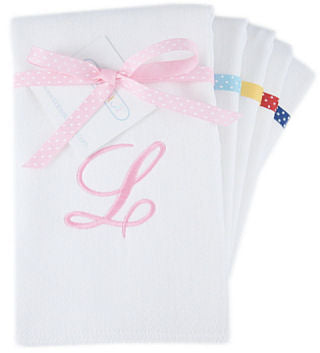 Personalized Initial Burp Cloth Set - 3 PACK