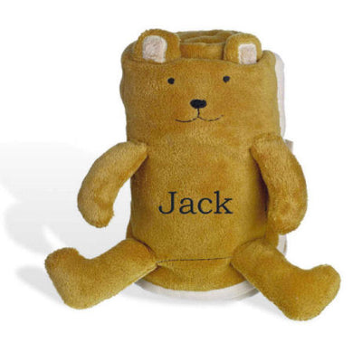 Personalized Fleece Friends Bear Blanket