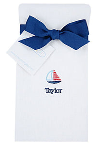 Personalized Little Sailor Baby Burp Cloth