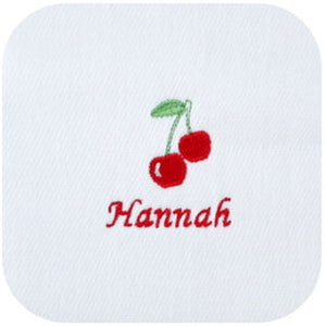 Personalized Burp Cloths For Girls - 3 PACK