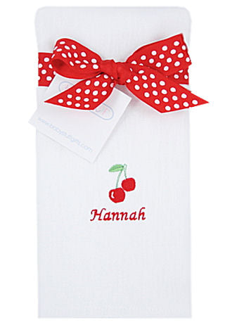 Personalized Sweet Cherry Baby Burp Cloth
