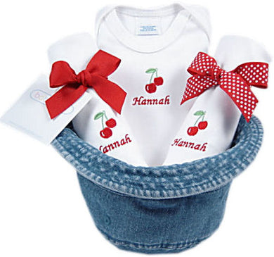 Personalized Denim Bucket Hat Gift Set