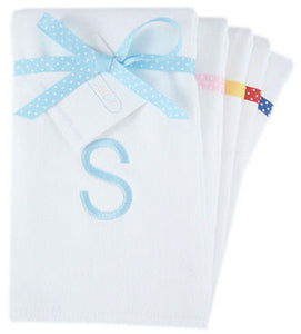 Personalized Boy's Initial Burp Cloth Set - 3 PACK