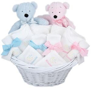 PERSONALIZED DELUXE TWIN GIFT BASKETS