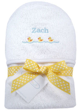 Personalized Just Ducky Hooded Towel