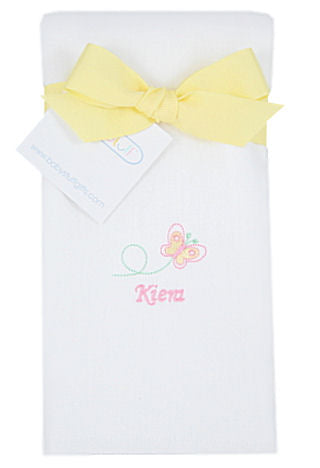Personalized Baby Butterfly Burp Cloth