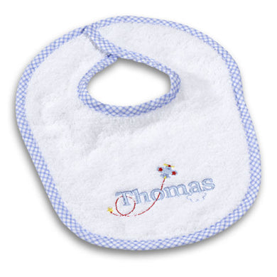 Boy's Personalized Gingham Bib