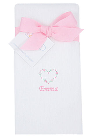 Personalized Sweet Heart Baby Burp Cloth