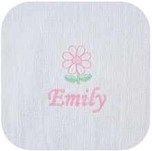 Girl's Personalized Terry Bib