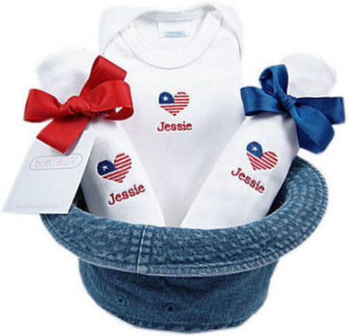 Petite Patriot - Personalized Bucket Hat Gift Set