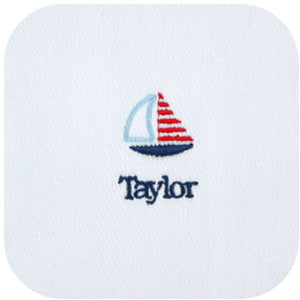 Personalized Little Sailor Burp Cloths - 3 PACK