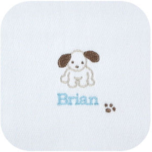 Boy's Personalized Burp Cloths - 3 PACK
