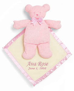 Personalized Pink Pancake Security Bear Blanket