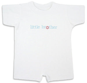 """Little Brother"" Baseball Romper"