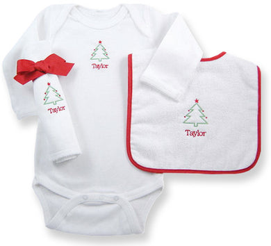 Baby's First Christmas - Personalized Layette Gift Set