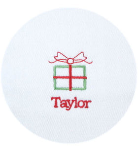 Baby's First Christmas Personalized Bib & Burp Cloth Set