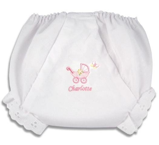 Personalized Baby Carriage Diaper Cover