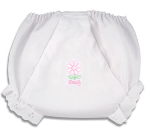 Personalized Dainty Daisy Diaper Cover