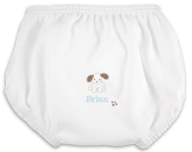 Personalized Little Pup Diaper Cover