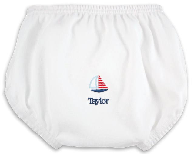 Personalized Little Sailor Diaper Cover