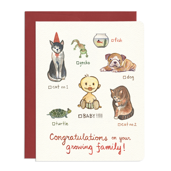 Cat Dog Baby!!! Card