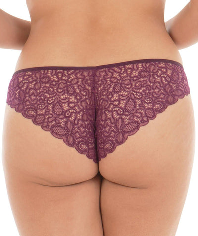 Curvy Kate Ellace Brazilian - Mulberry Knickers