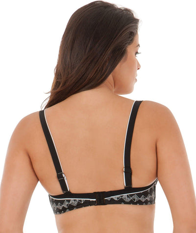 Curvy Kate Euphoria Balcony Bikini Top - Monochrome - Back