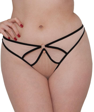 Scantilly Knock Out Thong - Latte - Front