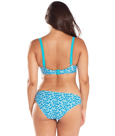 Curvy Kate Riptide Mini Brief - Blue Print - Model - Back