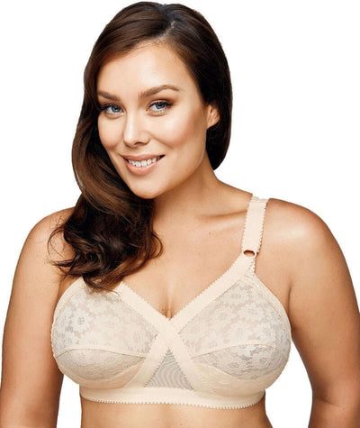 Playtex Cross Your Heart Wire-Free Lace Bra - Beige Bras 16C