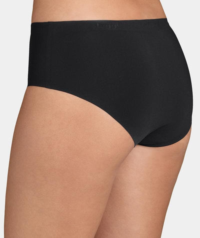 Triumph Sloggi Invisible Supreme Midi Brief - Black - Back View