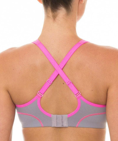 Triumph Triaction Performance Sports Bra - Quicksilver - Back