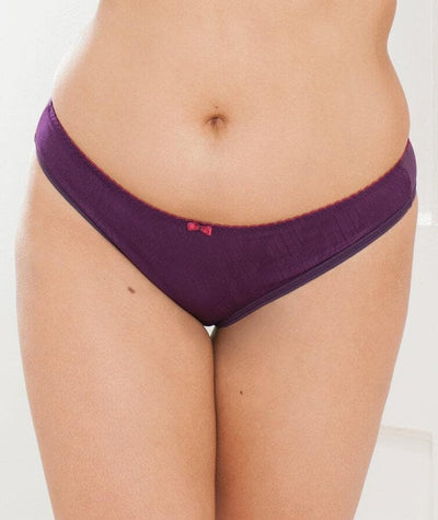 Curvy Kate Smoothie Soul Brazilian Brief - Purple/Sangria - Front