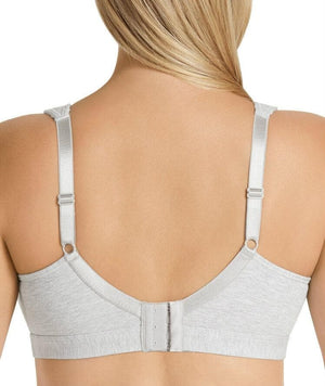 Playtex Ultimate Lift & Support Cotton Bra - Grey Heather - Front