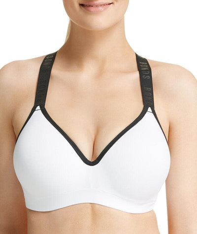 Bonds Sporty Tops Full Busted Bra - White Frost Bras 8D