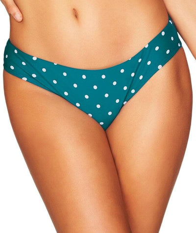 Sea Level Retro Spot Hipster Bikini Brief - Teal Swim 8